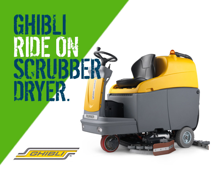 Ghibli Runner R150 FD 85 BC Ride-On Scrubber Dryer