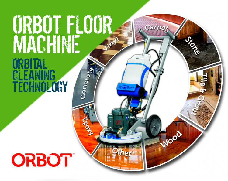 Orbot Spray Borg Orbital Floor Machine Cleaning