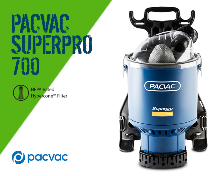 PacVac Superpro 700 Superb Backpack Vacuum Cleaner Scotland