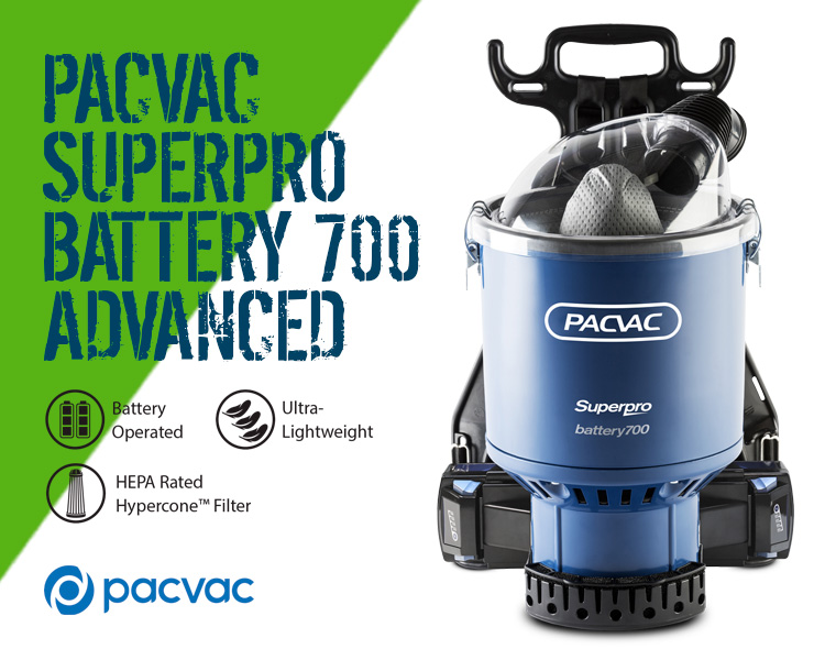 PacVac Superpro Battery Battery 700 Advanced Powered Backpack Vacuum Cleaner Scotland