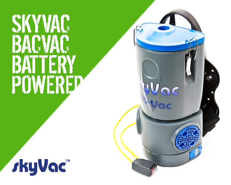 Skyvac BacVac Battery Powered High Reach Vacuum Cleaner