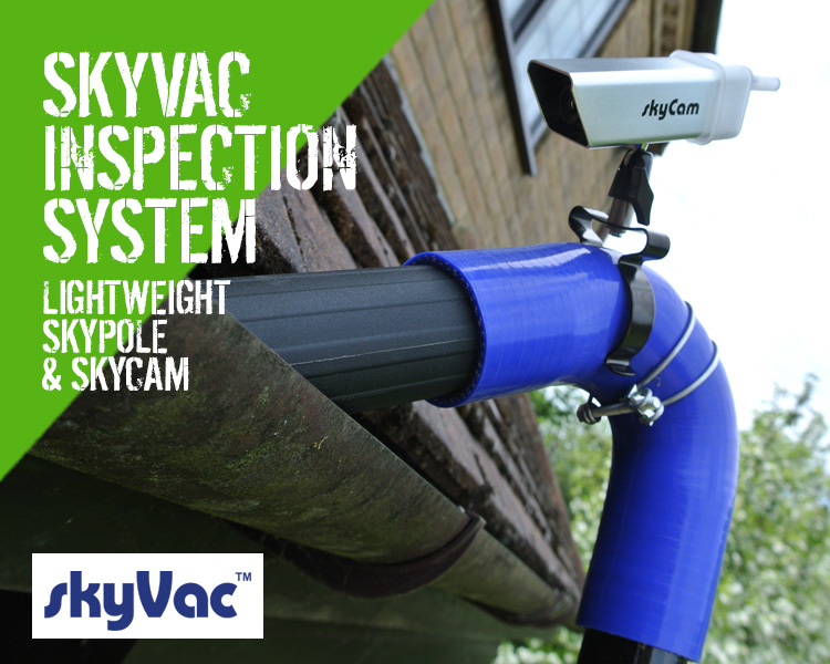 Skyvac Skypole Gutter Inspection Systems With Camera