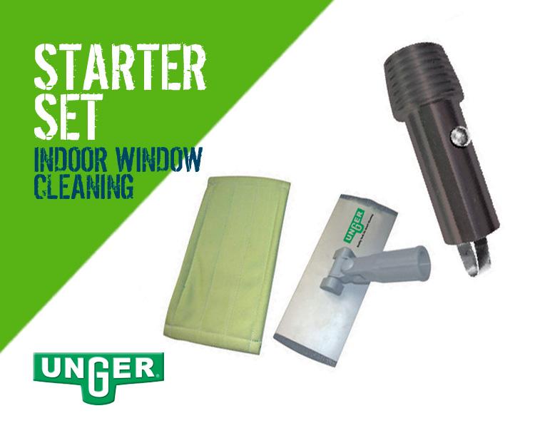 Unger Indoor Window Cleaning Starter Set