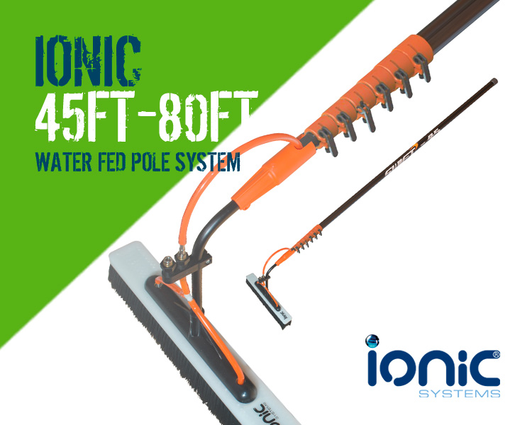 Ionic Swift 45 foot to 80ft Water Fed Window Cleaning Pole System Scotland