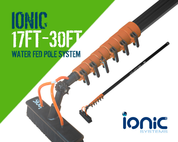 Ionic Grafter 17 foot to 32ft Water Fed Window Cleaning Pole System Scotland