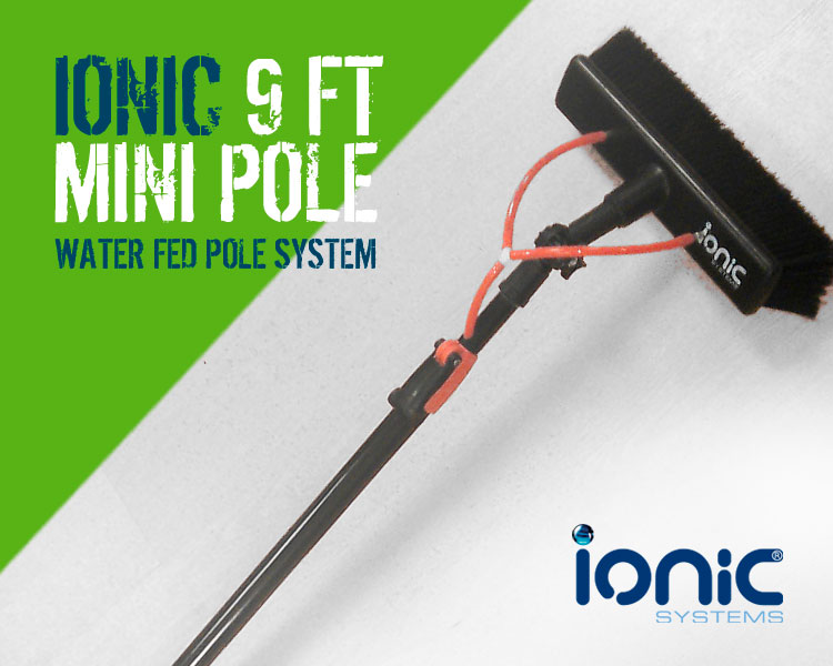 Ionic 9ft Mini Pole Water Fed Window Cleaning Pole System Scotland