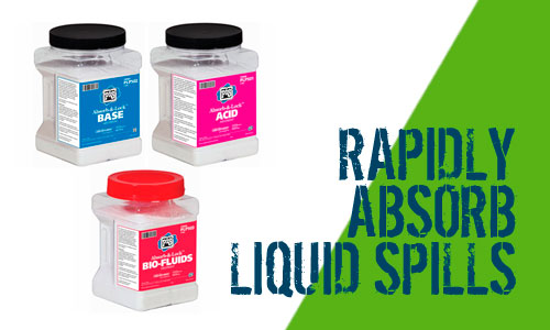 New Pig Absorb and Lock Liquid Spills for Bio fluids, Acids, Oils and Caustics Scotland