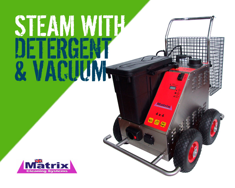 Matrix 4x4 SDV8 Steam Cleaner with Vacuum & Detergent Scotland