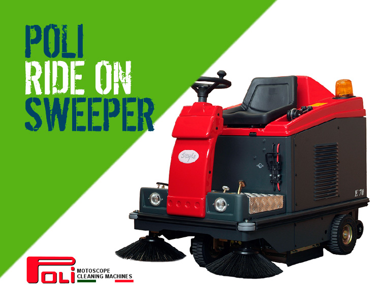 Poli Motoscope E70 S70 D70 Ride-on Sweeper Scotland
