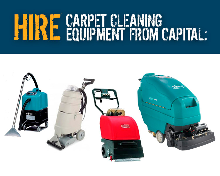 Hire Carpet Cleaning Machines from Capital Power Clean