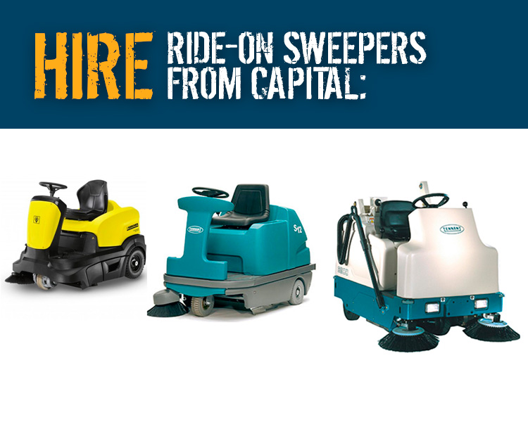 Hire Ride on Floor Sweeper Machines from Capital Power Clean