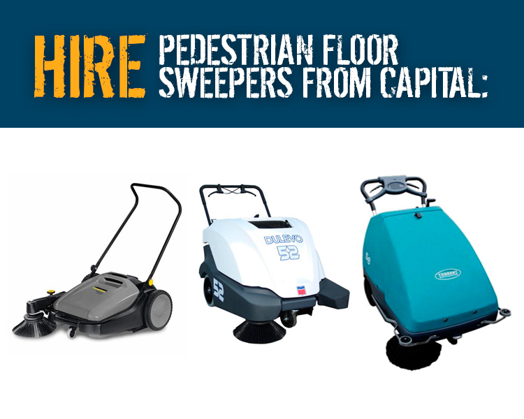 Hire Pedestrian Floor Sweepers from Capital Power Clean