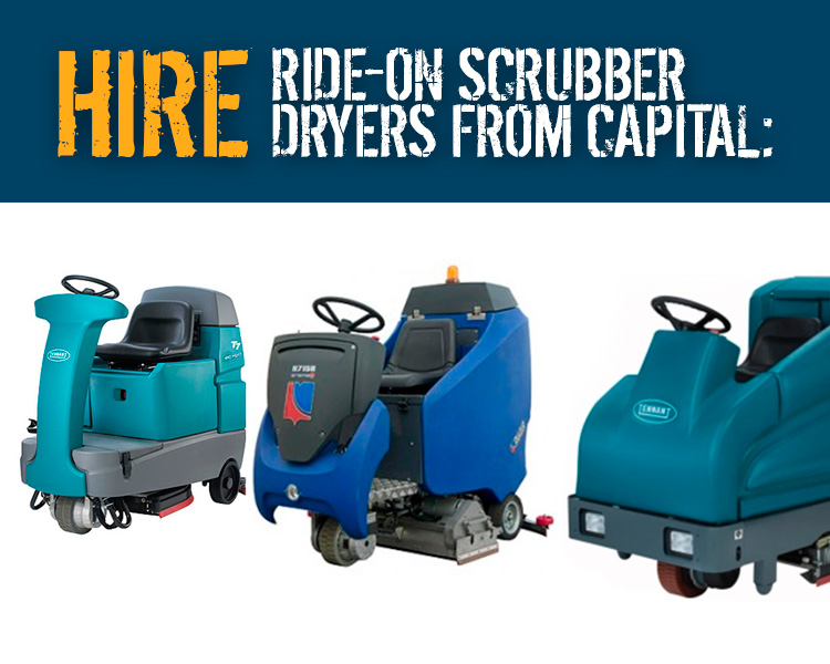 Hire Ride on Scrubber Driers from Capital Power Clean