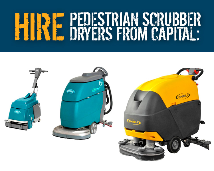 Hire Pedestrian Scrubber Driers from Capital Power Clean