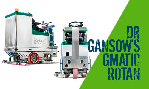 Dr Gansow Gmatic Rotan Ride-On Scrubber Dryers
