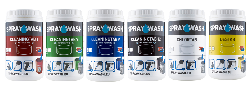 Spraywash Tab Range